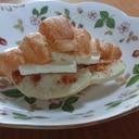 焼きりんご+クリームチーズをクロワッサン♪超簡単