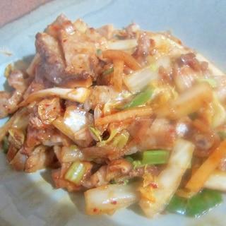 唐辛子パウダーと白菜キムチの都城産豚ロース肉グリル