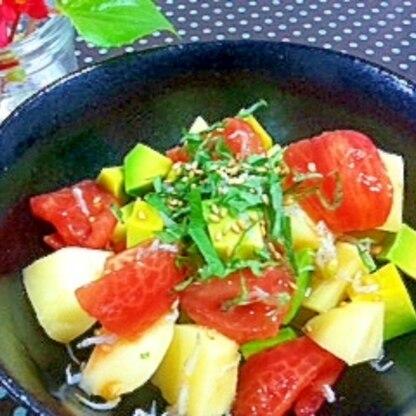 トマトとアボガドのさっぱりサラダ
