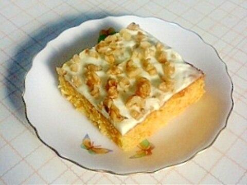 ホットケーキミックスdeキャロットケーキ(^o^)
