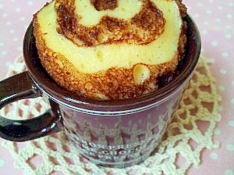 ホットケーキミックスで♪チョコマーブル蒸しパン