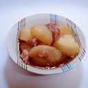 聖護院大根と鶏モモ肉の餡かけ煮