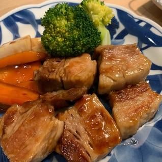 ご飯に合う!豚塊肉の中華風照り焼き