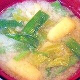ニラと白菜のお味噌汁