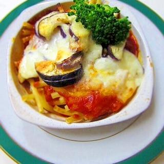 茄子のナポリチーズ焼き