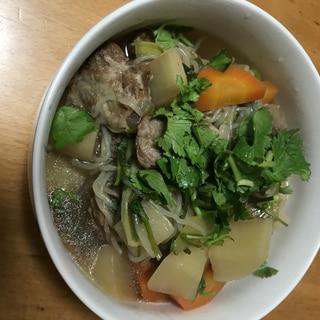 豚バラ軟骨と大根の中華風煮物