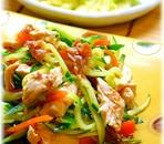 鶏ササミときゅうりのさっぱりサラダ