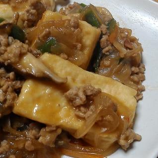 夕食にピッタリ。豆腐と挽き肉の野菜あんかけ