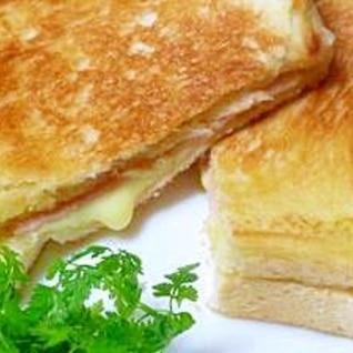 たまらない!!とろけるチーズ「クロックムッシュ」
