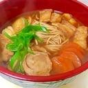 白石温麺で味噌煮