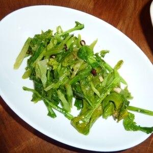 菜の花のぺペロンソテー
