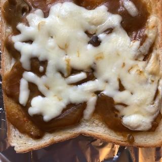 カレーの次の日に♡バターカレーチーズパン