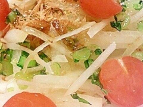 トマトと大根たっぷりサラダ