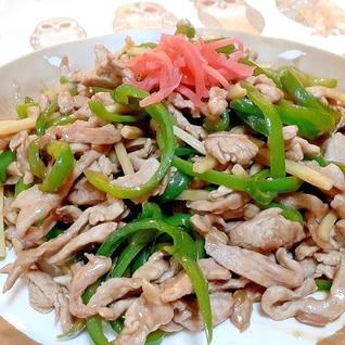 青椒肉絲◎偽麺❗ウ★ソース味‼️