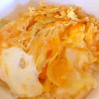 子供に大人気!じゃがいもと玉ねぎの簡単卵とじ&丼