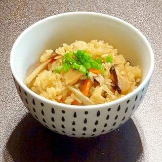 茅乃舎だしで簡単おいしい炊き込みご飯