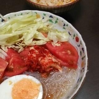 春雨で簡単冷麺