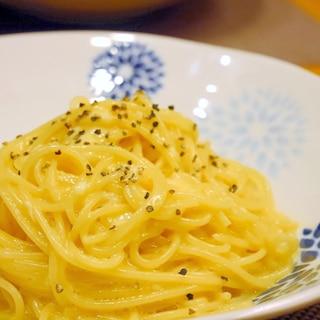 混ぜるだけ★卵とWチーズのカルボナーラ風