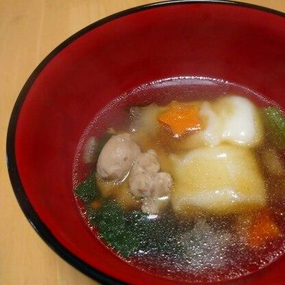 鶏肉の出汁とつゆだしで、野菜も味が染み込んで、美味しかったです!温まりました☆彡