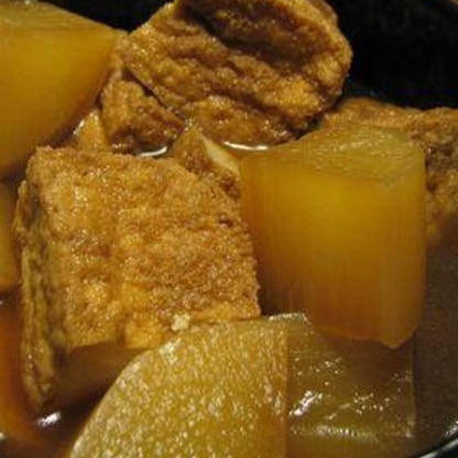 めんつゆで簡単☆厚揚げと大根の煮物