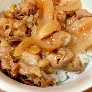 フライパンで作る簡単豚丼