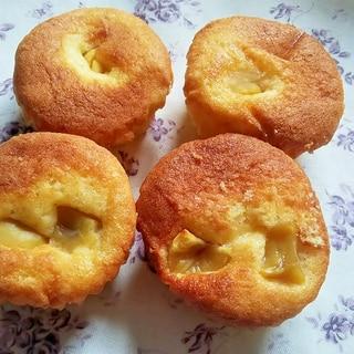 ホットケーキミックスで簡単栗のカップケーキ