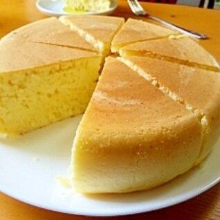 炊飯器でどーん♪極厚ホットケーキ