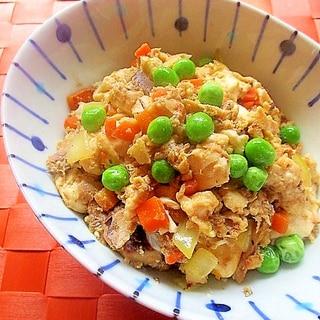 缶詰で簡単!鯖の水煮入り炒り豆腐