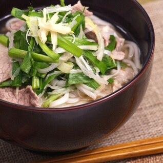 ニラ・生姜・ネギ入りポカポカ純米めん