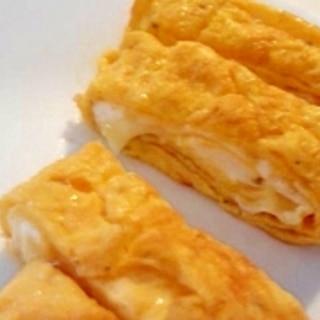 とろけるチーズの卵焼き