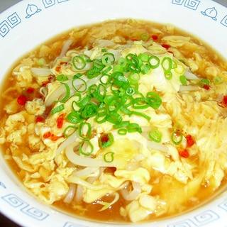 """もやし入り♪我が家の""""サンラータン麺"""""""