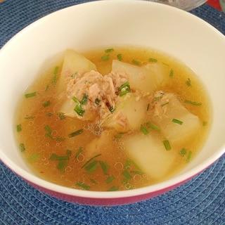 ツナと冬瓜のスープ