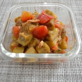 *茄子とトマトのツナ炒め*