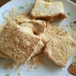 フライパンで簡単(^^)食パンのきなこソテーパン♪