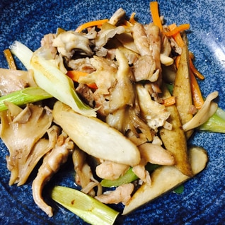 パパッと簡単!せせりと根菜の炒め物