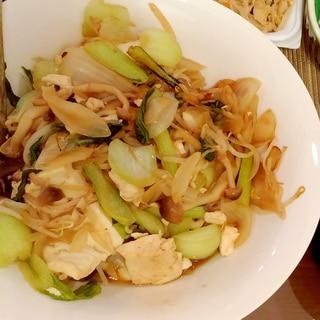 肉・卵なしでも美味しい☆島豆腐で作るチャンプルー