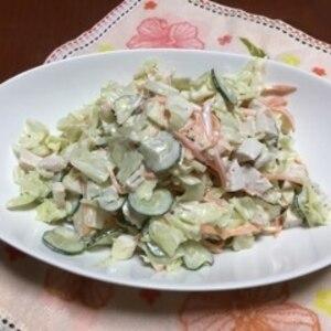 鶏ハムとキャベツのサラダ♪