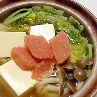 一人鍋レシピ☆和風明太子鍋