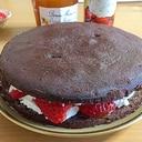 マセズトリュフチョコで苺たっぷり濃厚ガトーショコラ