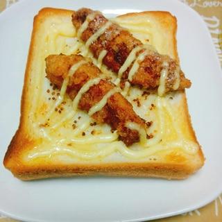 簡単☆からあげのハニーマスタードパン