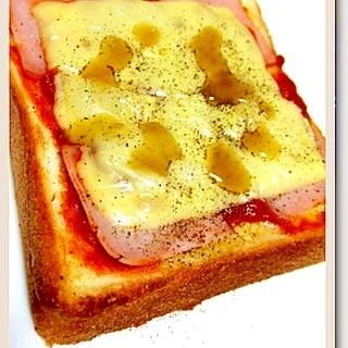 アラビアーター・ハラペーニョのトースト