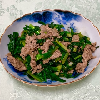 万能ネギと豚肉のすき焼き風♡