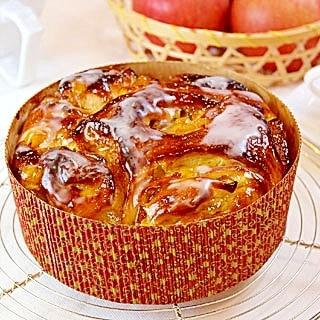 【ママパン】さつまいもとりんごのフラワーパン