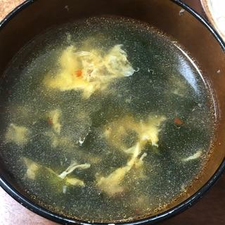 ★卵ふわふわ♪ピリ辛わかめと卵の中華スープ