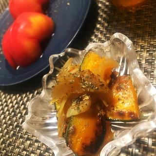 作り置きで便利☆かぼちゃと玉ねぎのマリネ