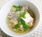 厚揚げとまいたけの中華スープ