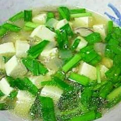 具沢山のスタミナ豆腐汁