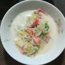 白菜とカニカマのクリーム煮