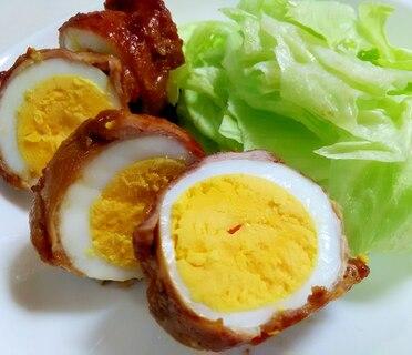 焼肉のたれで☆肉巻き卵