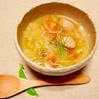 キャベツと根菜たっぷり☆スープ